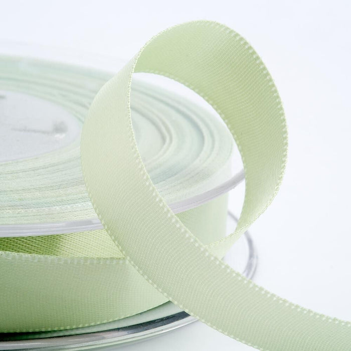 Light Green Satin Ribbon - Double Faced - 6 Widths - Craft / Sewing