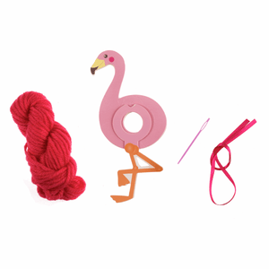 Flamingo - DIY Pom Pom Craft Kit - Tree Window Hanging Decoration - Children's Crafts
