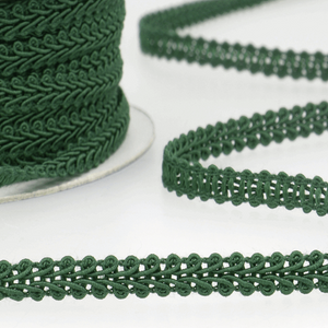 Forest Green - Stephanoise 6mm Gimp Braid Scroll Trim - Upholstery Dress Costume