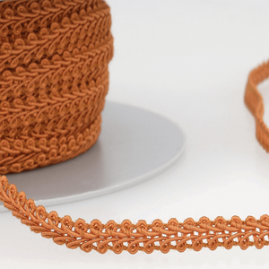 Gingerbread - Stephanoise 6mm Gimp Braid Scroll Trim - Upholstery Dress Costume
