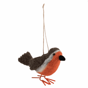 Robin  - Christmas Needle Felting Kit - Xmas Tree Hanging Decoration - Trimits Beginners