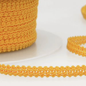 Golden Yellow - Stephanoise 6mm Gimp Braid Scroll Trim - Upholstery Dress Costume