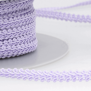 Lilac - Stephanoise 6mm Gimp Braid Scroll Trim - Upholstery Dress Costume