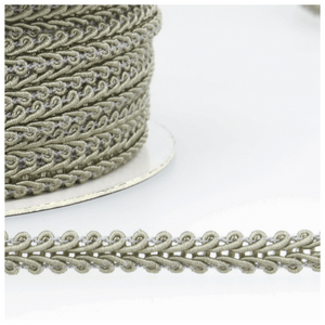 Light Grey - Stephanoise 6mm Gimp Braid Scroll Trim - Upholstery Dress Costume