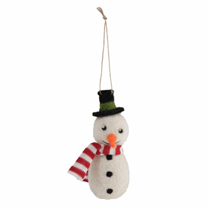 Snowman - Christmas Needle Felting Kit - Xmas Tree Hanging Decoration - Trimits Beginners