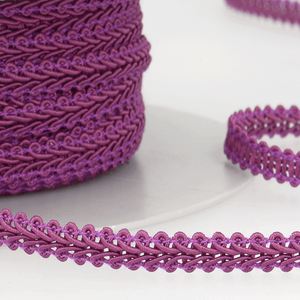 Magenta - Stephanoise 6mm Gimp Braid Scroll Trim - Upholstery Dress Costume