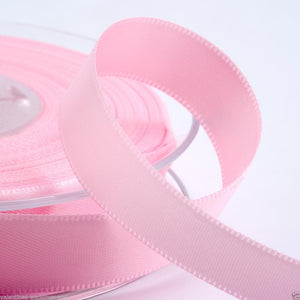 Pale Pink Satin Ribbon - Double Faced - 6 Widths - Craft / Sewing