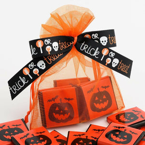 Pumpkin -  Halloween Themed Milk Chocolate Neapolitans - Party Favours, Trick Or Treat, Halloween