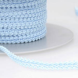 Pale Blue - Stephanoise 6mm Gimp Braid Scroll Trim - Upholstery Dress Costume