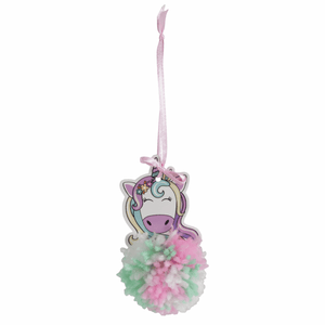 Unicorn - DIY Pom Pom Craft Kit - Tree Window Hanging Decoration - Children's Crafts