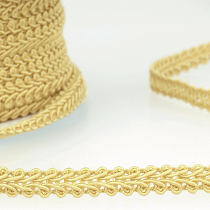 Pale Gold - Stephanoise 6mm Gimp Braid Scroll Trim - Upholstery Dress Costume