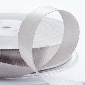 Silver Satin Ribbon - Double Faced - 6 Widths - Craft / Sewing