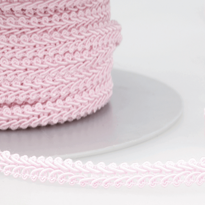 Pale Pink - Stephanoise 6mm Gimp Braid Scroll Trim - Upholstery Dress Costume