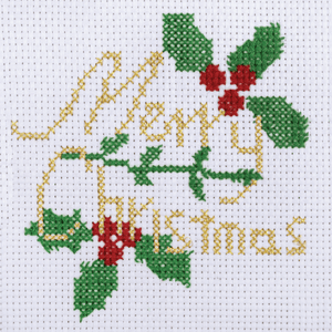 Merry Christmas - Christmas Counted Cross Stitch Kit - Beginners/Childrens Starter - Trimits