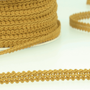 Antique Gold - Stephanoise 6mm Gimp Braid Scroll Trim - Upholstery Dress Costume