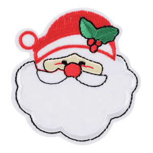 Santa Claus Christmas Craft Motif - Iron On & Sew On Festive Applique - Xmas Patch