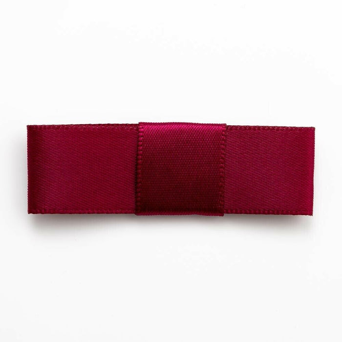 Burgundy - Self Adhesive Pre Tied Bows - 5cm x 16mm Satin Ribbon