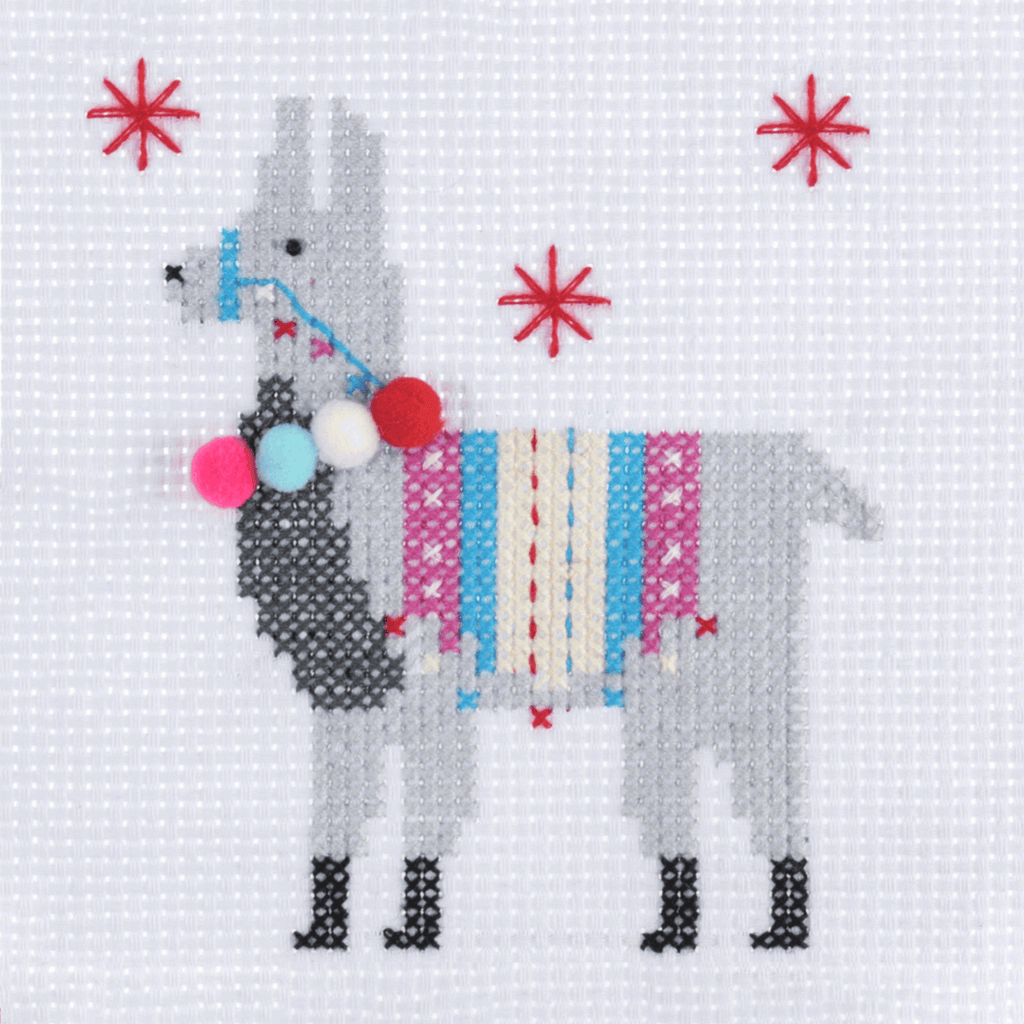 Llama - Christmas Counted Cross Stitch Kit - Beginners/Childrens Starter - Trimits