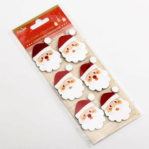 Glitter Santa Faces - Handcrafted Christmas Craft Decorations - Handmade Card Embellishments