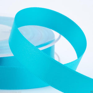 Turquoise Satin Ribbon - Double Faced - 6 Widths - Craft / Sewing