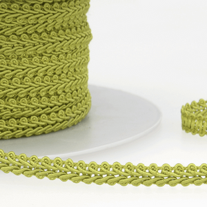 Sage Green - Stephanoise 6mm Gimp Braid Scroll Trim - Upholstery Dress Costume