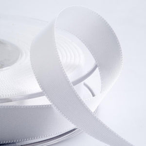 White Satin Ribbon - Double Faced - 6 Widths - Craft / Sewing