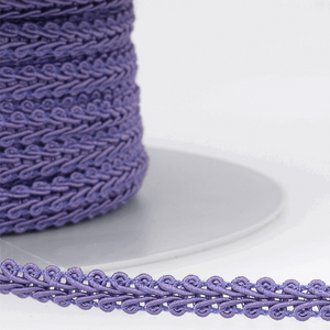 Violet Purple - Stephanoise 6mm Gimp Braid Scroll Trim - Upholstery Dress Costume