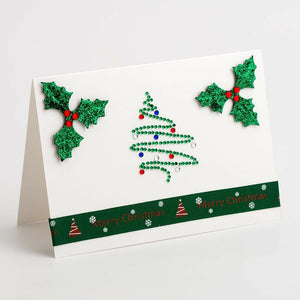 Glitter Holly - Handcrafted Christmas Craft Decorations - Handmade Card Embellishments