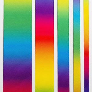 16mm Bright Rainbow Ribbon Double Sided Satin - Fantasy Unicorn, Card Making, Crafts, Scrapbooking