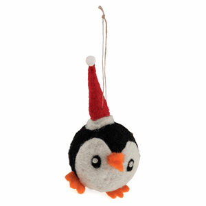 Party Penguin - Christmas Needle Felting Kit - Xmas Tree Hanging Decoration - Trimits Beginners