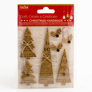 Kraft Christmas Trees - Handcrafted Christmas Craft Decorations - Handmade Card Embellishments