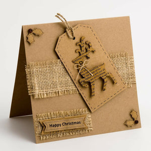 Kraft Reindeers - Handcrafted Christmas Craft Decorations - Handmade Card Embellishments