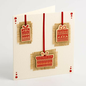 Nordic Presents - Handcrafted Christmas Craft Decorations - Handmade Card Embellishments