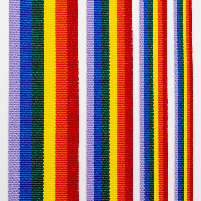 Bright Rainbow Striped Ribbon Double Sided Grosgrain - 38mm - NHS/LGBT Events, Kids Crafts, Scrapbooking