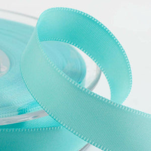 Duck Egg Blue Satin Ribbon - Double Faced - 6 Widths - Craft / Sewing