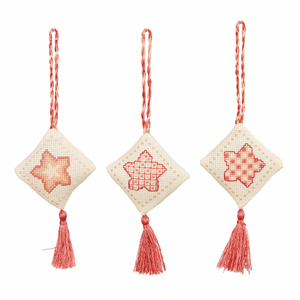 Rose Gold - Anchor Christmas Decorations Collection - Counted Cross Stitch Kit - 3 Patterns