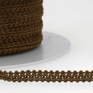 Chocolate Brown - Stephanoise 6mm Gimp Braid Scroll Trim - Upholstery Dress Costume
