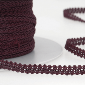 Claret - Stephanoise 6mm Gimp Braid Scroll Trim - Upholstery Dress Costume