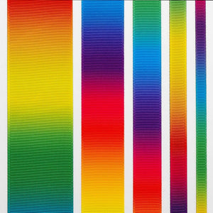 6mm Bright Rainbow Ribbon Double Sided Grosgrain - Fantasy Unicorn, Card Making, Crafts, Scrapbooking