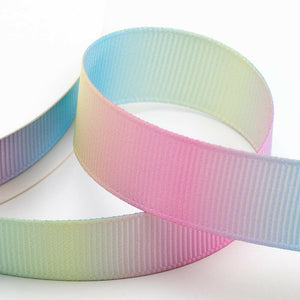 25mm Pastel Rainbow Ribbon Double Sided Grosgrain - Fantasy Unicorn, Card Making, Crafts, Scrapbooking