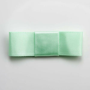 Mint Green - Self Adhesive Pre Tied Bows - 5cm x 16mm Satin Ribbon