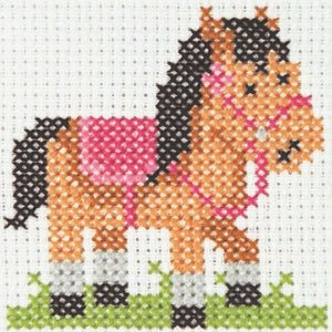 Pony - Anchor Counted Cross Stitch Kit - Children / Beginners Cross Stitch Kit - 1st Kit
