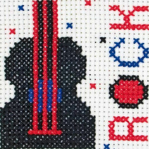 Rock Guitar- Anchor Counted Cross Stitch Kit - Children / Beginners Cross Stitch Kit - 1st Kit
