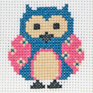 Zoe The Owl - Anchor Counted Cross Stitch Kit - Children / Beginners Cross Stitch Kit - 1st Kit