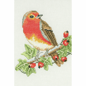 Anchor Red Robin Counted Cross Stitch Kit - AK125 - 23cm x 16cm