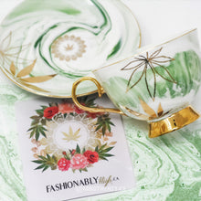 Green Queen High Tea Cup & Saucer - Limited Edition by Fashionably High