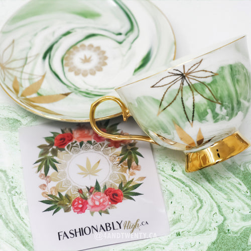 *PRE-ORDER* Green Queen High Tea Cup & Saucer - Limited Edition by Fashionably High