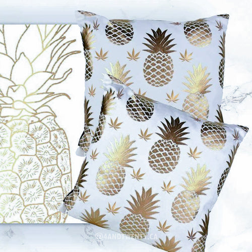 Golden Pineapple Pillowcase by Fashionably High