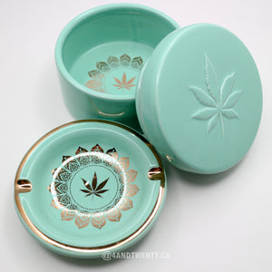 Green Queen Stash Box & Ashtray - Limited Edition by Fashionably High