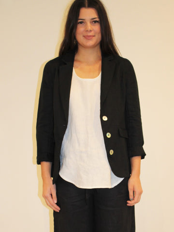 Weekend Linen Blazer BLACK
